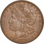 1878 Pattern Morgan Dollar. Judd-1550b, Pollock-1726. Rarity-6+. Copper. Reeded Edge. Proof-65 BN (P