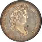 1859 Pattern Half Dollar. Judd-239, Pollock-295. Rarity-4. Silver. Reeded Edge. Proof-64 (NGC).