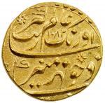 MUGHAL: Aurangzeb, 1658-1707, AV mohur 4010。97g41, Aurangabad, AH1082 year 14, KM-315。10, magnificen