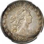 1805 Draped Bust Half Dollar. O-110, T-6. Rarity-5+. VF-30 (NGC).