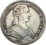 Monete e Medaglie di Zecche Italiane, Napoli.  Ferdinando IV  (1759-1816). Piastra 1766 con sigle C/