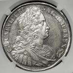 HOUSE OF HABSBURG Karl VI カール6世(1711~40) Taler 1739KB NGC-AU58 EF+