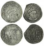 Edward VI (1547-53), coinage in the name of Henry VIII, Groats (2), both Durham House, 2.28g, m.m. b