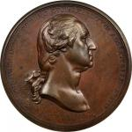 1776 (1790) Washington Before Boston Medal. Original. Bronze. 68.1 mm. Baker-47B, Julian MI-1. Rarit