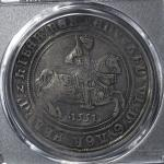 GREAT BRITAIN Edward VI エドワード6世(1547~53) Crown 1551 PCGS-VF Detail Tooled  里面に古い削り迹あり -VF