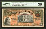 MEXICO. Banco Minero. 10 Pesos, 1910. P-S171a. PMG Very Fine 30.