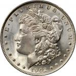 1902 Morgan Silver Dollar. MS-66+ (PCGS). Gold Shield Holder.