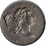 1794 Liberty Cap Half Cent. C-1a. Rarity-2. Normal Head. Large Edge Letters. MS-62 BN (PCGS).