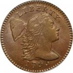 1795 Liberty Cap Cent. S-75. Rarity-3. Lettered Edge. MS-65 BN (PCGS).