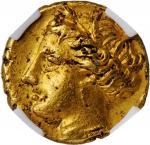 SICILY. Syracuse. Agathokles, 317-289 B.C. AV Diobol (1/6 Stater) (1.31 gms), ca. 304-289 B.C. NGC A