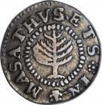1652 Pine Tree Shilling. Small Planchet. Noe-16, Salmon 2-B, W-835. Rarity-2. EF-40 (PCGS).