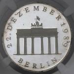GERMANY Democratic Rep 東ドイツ 20Mark 1990A  NGC-PF65 Ultra Cameo Proof