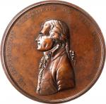 1801 (Post-1861) Thomas Jefferson Indian Peace Medal. Medium Size. Bronze. 75 mm. Julian IP-3. First