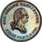 Circa 1870 Order of United American Mechanics medal. Musante GW-812, Baker-336A. Copper. MS-64 BN (P