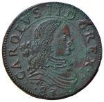 Italian coins;NAPOLI Carlo II (1674-1700) Grano 1683 - Magliocca 60 CU (g 9.57) Qualche deposito ver