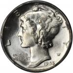 1945 Mercury Dime. MS-65 (PCGS).