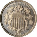 1868 Shield Nickel. Proof-66 (NGC).