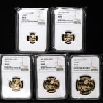 2007年熊猫纪念金币一组5枚 NGC MS