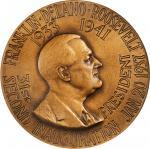 1937 Franklin D. Roosevelt Second Inaugural Medal. Dusterberg-OIM 9B76, MacNeil-FDR 1937-3. Bronze.
