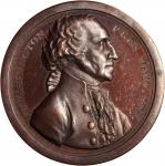 1797 (ca. 1859) Washington Sansom Medal. U.S. Mint Dies. Red Bronze. 40.8 mm. Musante GW-59, Baker-7
