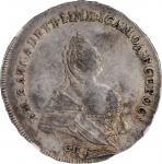 RUSSIA. Poltina (1/2 Ruble), 1742-CNB. St. Petersburg Mint. Elizabeth. NGC AU-53.