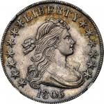 1805 Draped Bust Half Dollar. O-112, T-2. Rarity-2. MS-61 (NGC).
