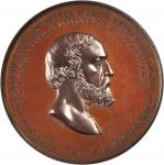 1866 Major General George G. Meade. Bronze. 81 mm. By Anthony C. Paquet. Julian PE-20. Mint State.