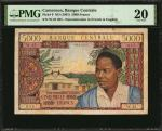 CAMEROON. Banque Centrale. 5000 Francs, ND (1961). P-9. Low Serial Number. PMG Very Fine 20.