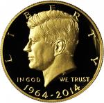 2014-W 50th Anniversary Kennedy Half Dollar. Gold. Proof Deep Cameo (Uncertified).