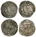Henry VIII (1509-47), third coinage, Groats (2), both Canterbury, 2.32g, m.m. none, henric 8 di gra