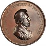 1862 Abraham Lincoln Indian Peace Medal. First Size. Bronze. 76 mm, 7.3 to 7.7 mm thick. Julian IP-3