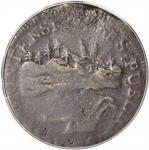 1786 Vermont Copper. Landscape. RR-6, Bressett 4-D, W-2020. Rarity-4. VERMONTENSIUM. Fine-12 Details