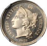 1873 Nickel Three-Cent Piece. Close 3. Proof-67+ (NGC).