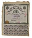 California, School Bond 1872, City and County of San Francisco 1872, $1000 bond. Violet. No.78. Linc