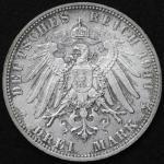 GERMANY Bavaria バイエ儿ン 3Mark 1911D UNC