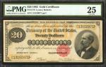 Fr. 1178. 1882 $20 Gold Certificate. PMG Very Fine 25.