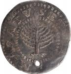 1652 Pine Tree Shilling. Large Planchet. Noe-11, Salmon 9-F, W-760. Rarity-4. No H in MASATVSETS. VF