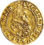 GERMANY. Leiningen. Goldgulden, 1617. Grunstadt Mint. Ludwig. PCGS Genuine--Mount Removed, EF Detail