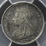 GREAT BRITAIN Victoria ヴィクトリア(1837~1901) 6Pence 1893  PCGS-PR65 Proof UNC~FDC
