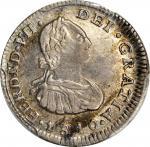 COLOMBIA. 1810-JF 1/2 Real. Popayán mint. Ferdinand VII (1808-1833). Restrepo 106.1. AU-53 (PCGS).