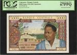 CAMEROON. Banque Centrale. 5000 Francs, ND (1961). P-8s. Specimen. PCGS Superb Gem New 67 PPQ.