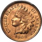 1909-S Indian Cent. MS-65 RD (PCGS). CAC.