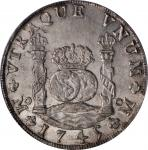 MEXICO. 8 Reales, 1745-Mo MF. Mexico City Mint. Philip V. PCGS MS-62.