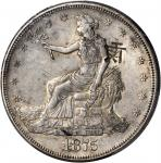 1875-S Trade Dollar. Type I/I--Chopmark--AU-53 (PCGS).
