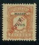 Macao  Stamp  1914 Macau Postage due 4 avos with local REPUBLICA overprint, with INVERTED