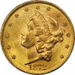 1872 Liberty Head Double Eagle. MS-62 (PCGS).