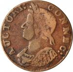 1786 Connecticut Copper. Miller 5.8-O.2, W-2630. Rarity-5+. Mailed Bust Left. VF-20 (PCGS).