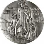 1961 Pilgrims and Patriots. Silver. 73.5 mm. 218.0 grams. 999 fine. By Adolph Block. Alexander-SOM 6
