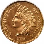 1872 Indian Cent. Snow PR-1, the only known dies. Proof-66 RD Cameo (PCGS). Eagle Eye Photo Seal.