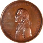 1801 Thomas Jefferson Indian Peace Medal. First Size. Mint Copy Obverse and Reverse Dies. Bronzed Co